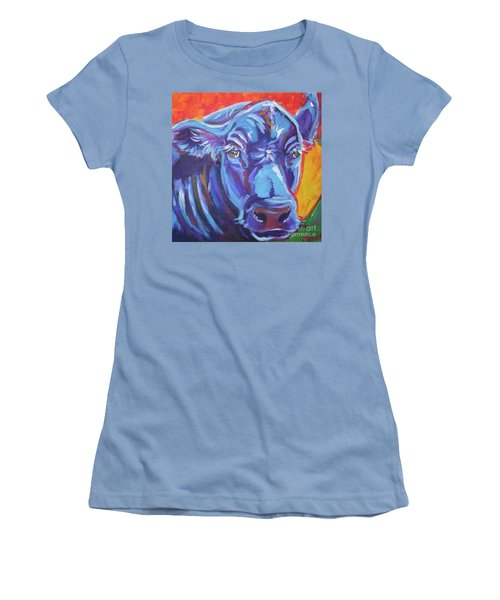 Pretty Face Cow Women's T-Shirt (Athletic Fit)
