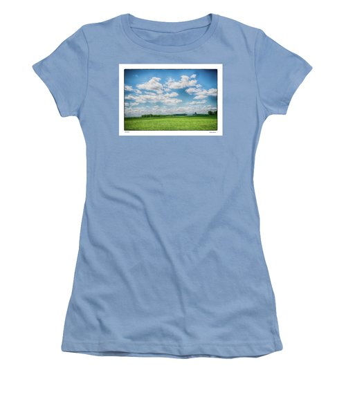Women's T-Shirt (Junior Cut) featuring the photograph Prison Barn by R Thomas Berner
