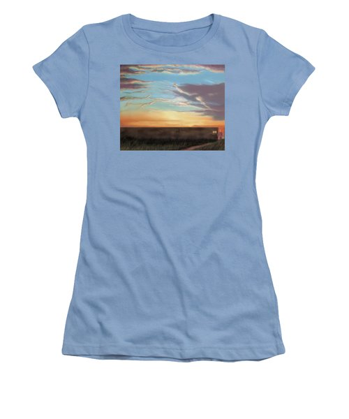 Private Sunrise.  Keep Out Women's T-Shirt (Junior Cut) by Albert Puskaric