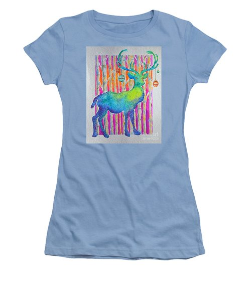 Psychedeer Women's T-Shirt (Athletic Fit)