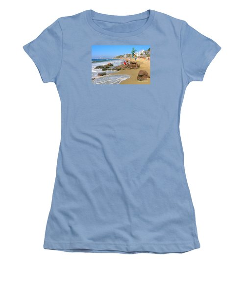 Puerto Vallarta Beachfront Women's T-Shirt (Athletic Fit)