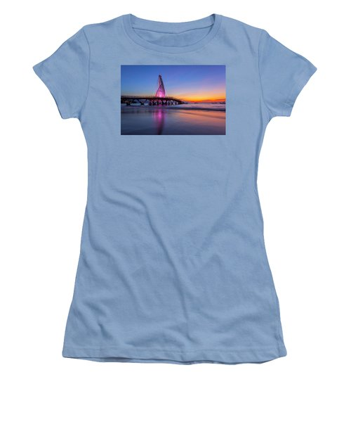 Puesta De Sol En La Playa De Los Murtos Women's T-Shirt (Junior Cut) by Edward Kreis