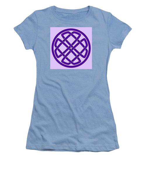 Women's T-Shirt (Junior Cut) featuring the digital art Purple Celtic Knot by Jane McIlroy
