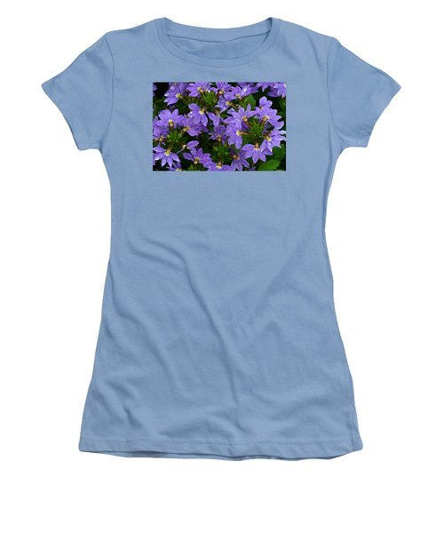 Women's T-Shirt (Junior Cut) featuring the photograph Purple Perspective by Shari Jardina