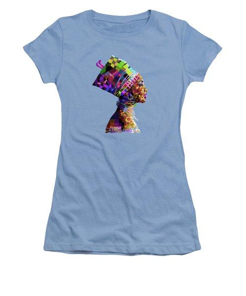Queen Nefertiti Women's T-Shirt (Junior Cut) by Anthony Mwangi