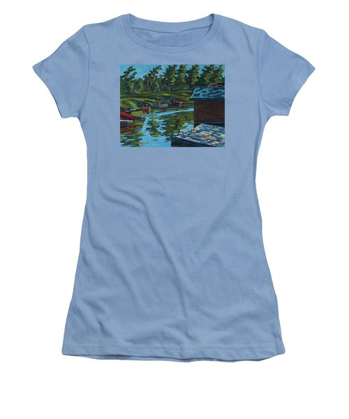 Quiet Morning At Chaffeys Women's T-Shirt (Athletic Fit)