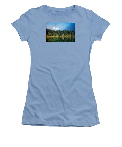 Women's T-Shirt (Junior Cut) featuring the photograph Quiet Reflections 2 by Lynn Hopwood