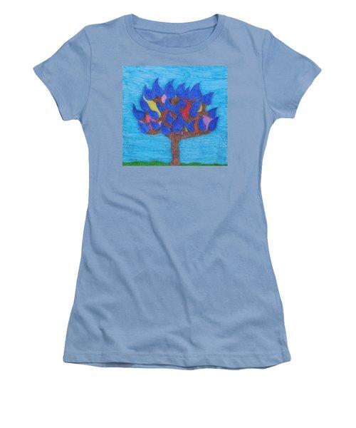 Rain Beauty Tree Women's T-Shirt (Junior Cut)