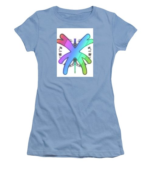 Rainbow Bug Women's T-Shirt (Athletic Fit)