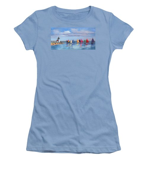Rainbow Fleet Parade At Brant Point Women's T-Shirt (Athletic Fit)