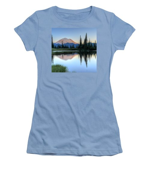 Rainier From Tipsoo Women's T-Shirt (Junior Cut) by Peter Mooyman