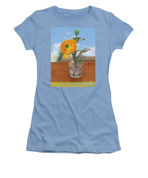 Ranunculus Spring Women's T-Shirt (Junior Cut) by Alexis Rotella