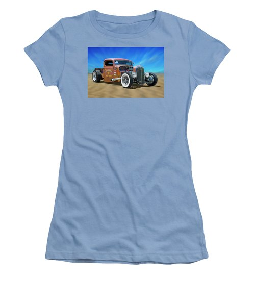 Women's T-Shirt (Junior Cut) featuring the photograph Rat Truck On The Beach by Mike McGlothlen