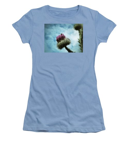 Women's T-Shirt (Junior Cut) featuring the photograph Ready For Take-off by Karen Stahlros