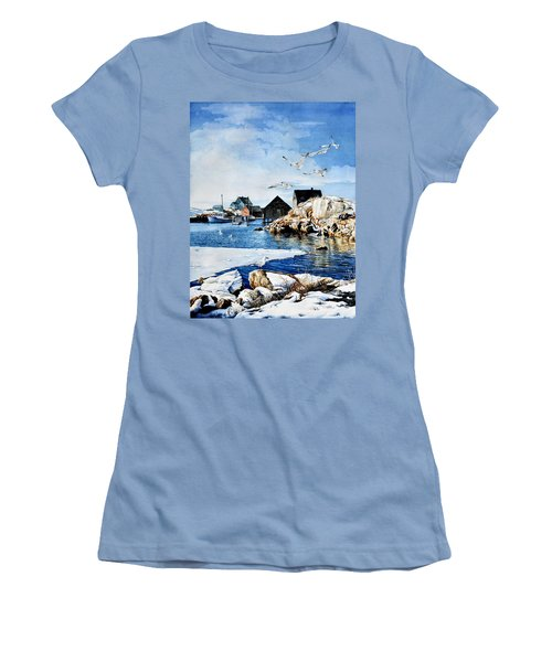 Women's T-Shirt (Athletic Fit) featuring the painting Reason To Believe by Hanne Lore Koehler