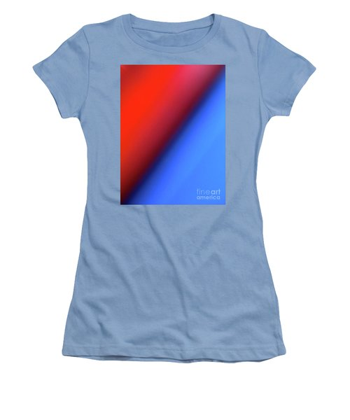 Women's T-Shirt (Junior Cut) featuring the photograph Red Blue by CML Brown