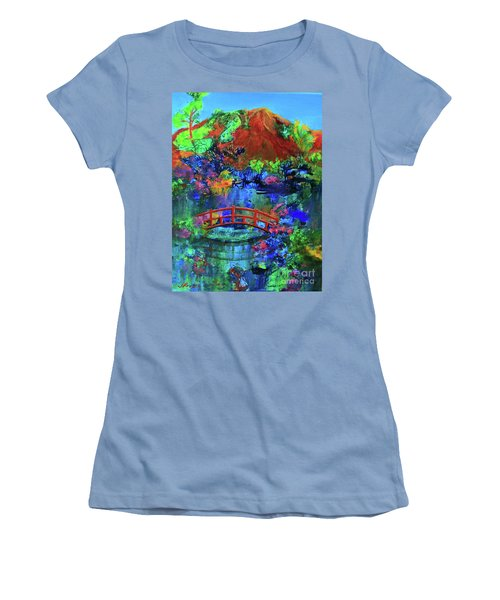 Red Bridge Dreamscape Women's T-Shirt (Junior Cut) by Jeanette French