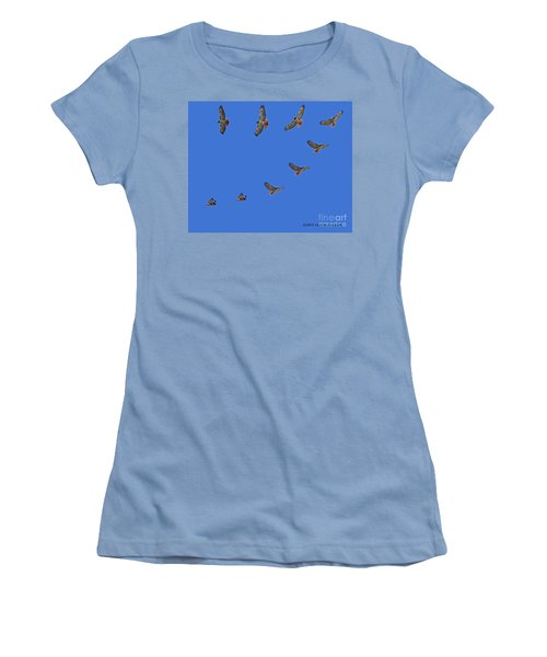 Red Tailed Hawk In Flight Women's T-Shirt (Athletic Fit)