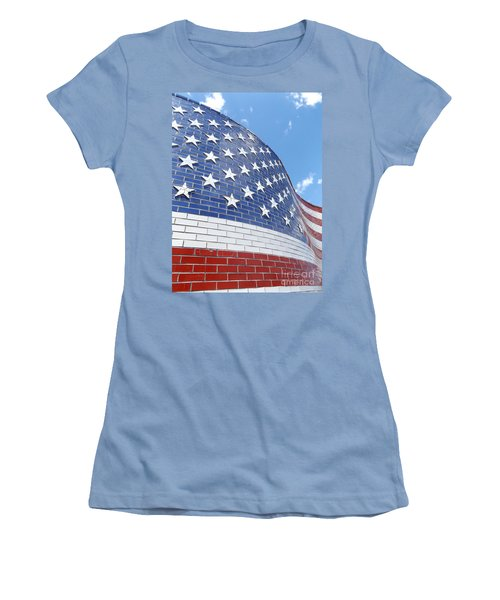 Red White And Blue Women's T-Shirt (Junior Cut) by Erick Schmidt