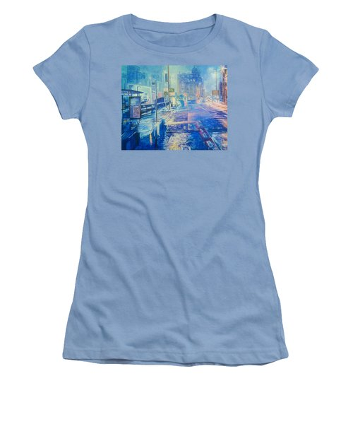 Reflections At Night In Manchester Women's T-Shirt (Athletic Fit)