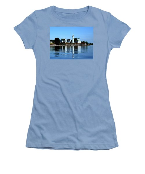 Reflections At Tibbetts Point Lighthouse Women's T-Shirt (Athletic Fit)