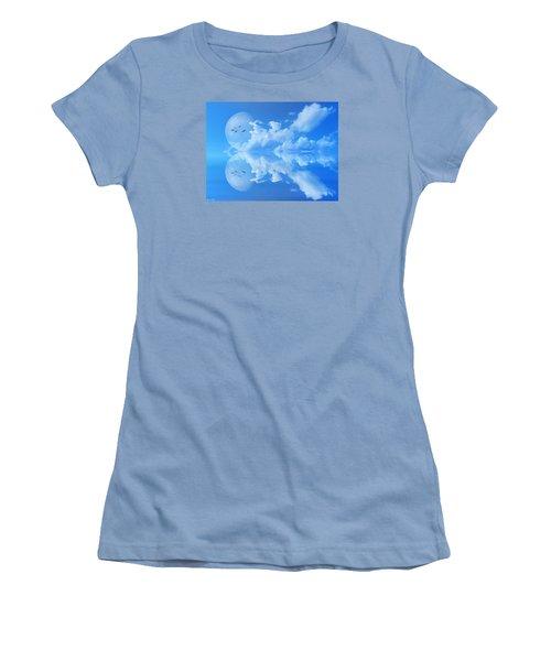 Women's T-Shirt (Junior Cut) featuring the photograph Reflections by Bernd Hau