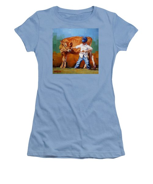 Reluctant Showgirl Women's T-Shirt (Junior Cut) by Margaret Stockdale