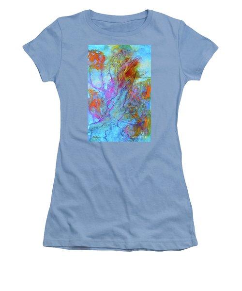 Rhapsody In Blue Women's T-Shirt (Junior Cut) by Mary Sullivan