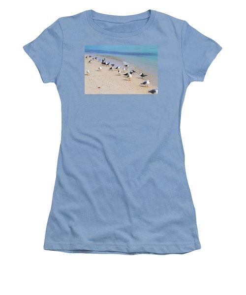 Rhapsody In Seabird Women's T-Shirt (Athletic Fit)