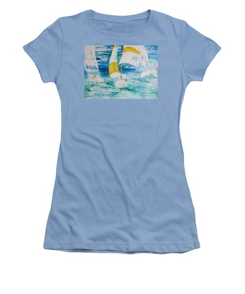 Riding The Wind Women's T-Shirt (Athletic Fit)
