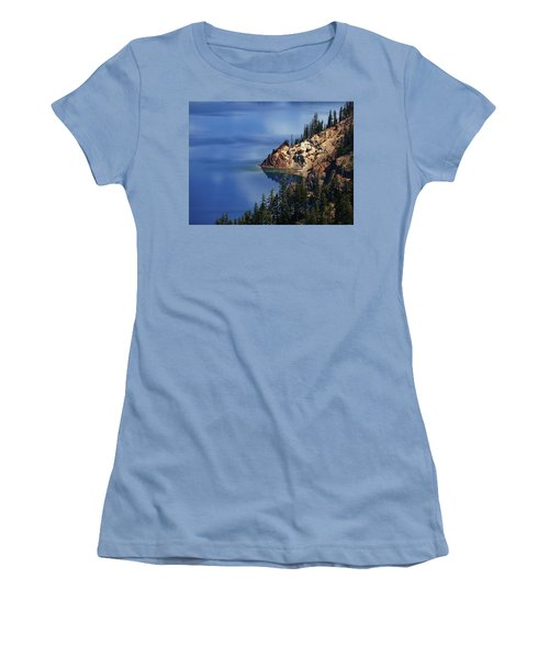 Right Side Of Crater Lake Oregon Women's T-Shirt (Athletic Fit)
