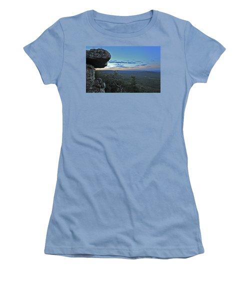 Women's T-Shirt (Junior Cut) featuring the photograph Rim Daybreak by Gary Kaylor