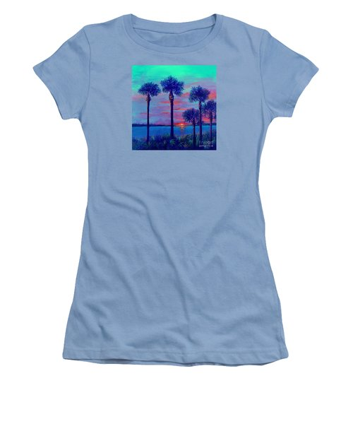 Ringling Bridge Sunset Women's T-Shirt (Athletic Fit)