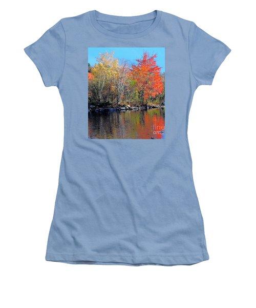 River Color Women's T-Shirt (Athletic Fit)