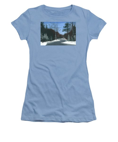 Road To Northport - Winter Women's T-Shirt (Athletic Fit)