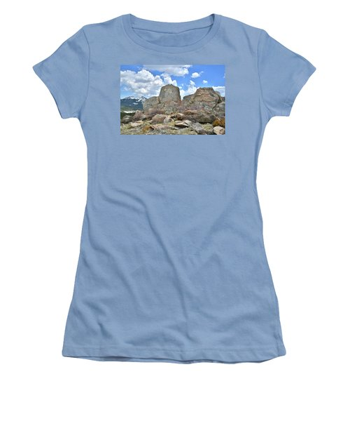 Rock Cropping At Big Horn Pass Women's T-Shirt (Athletic Fit)