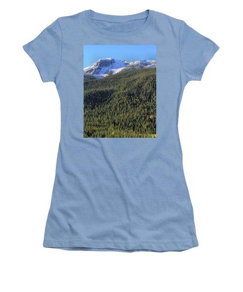 Women's T-Shirt (Junior Cut) featuring the photograph Rocky Mountain Evergreen Landscape by Dan Sproul