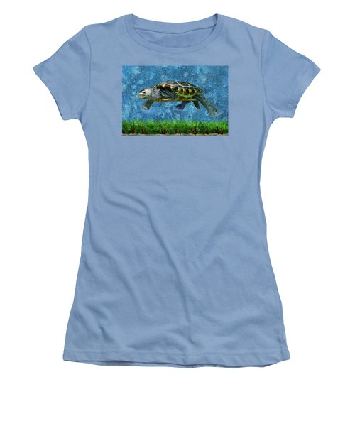 Rodney The Diamondback Terrapin Turtle Women's T-Shirt (Athletic Fit)