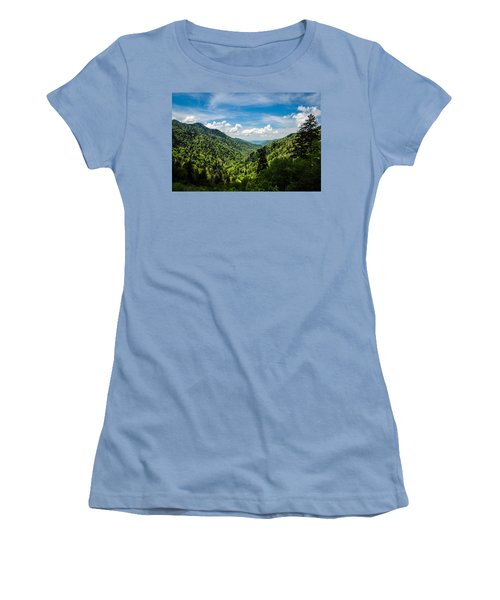 Rolling Mountains Women's T-Shirt (Athletic Fit)