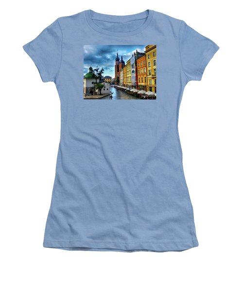 Romance In Krakow Women's T-Shirt (Junior Cut) by Kasia Bitner