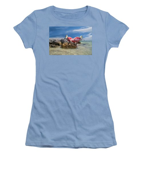 Roseate Spoonbill Florida Keys Women's T-Shirt (Athletic Fit)