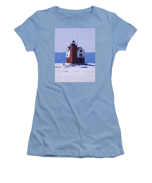 Round Island 2 Women's T-Shirt (Junior Cut) by Keith Stokes