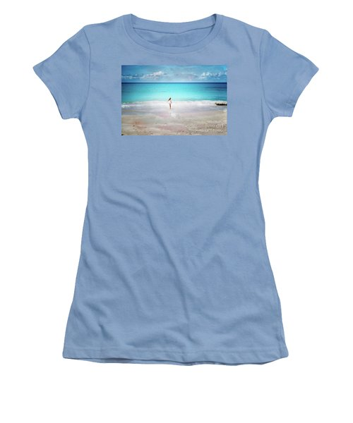 Running To The Sea Women's T-Shirt (Athletic Fit)