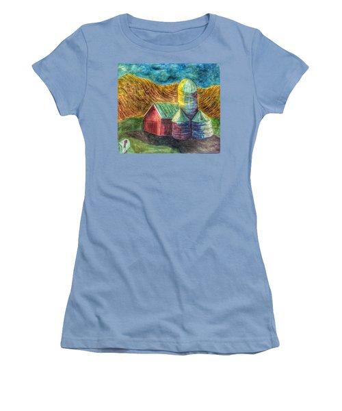 Rural Farm Women's T-Shirt (Junior Cut) by Jame Hayes