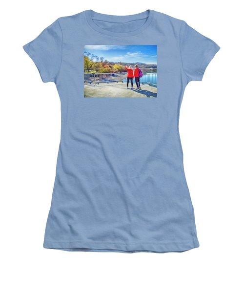 Women's T-Shirt (Junior Cut) featuring the photograph Russian Selfie by Theresa Tahara