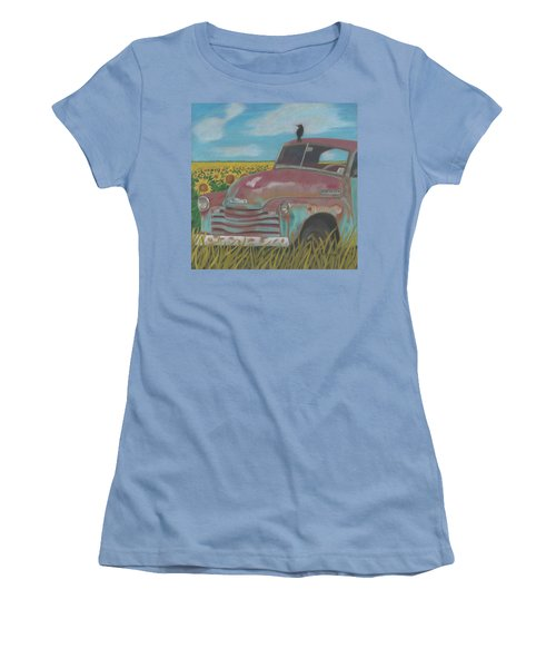 Rust And Gold Women's T-Shirt (Junior Cut) by Arlene Crafton