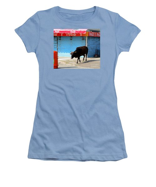 Women's T-Shirt (Junior Cut) featuring the photograph Sacred Cow 1 by Randall Weidner