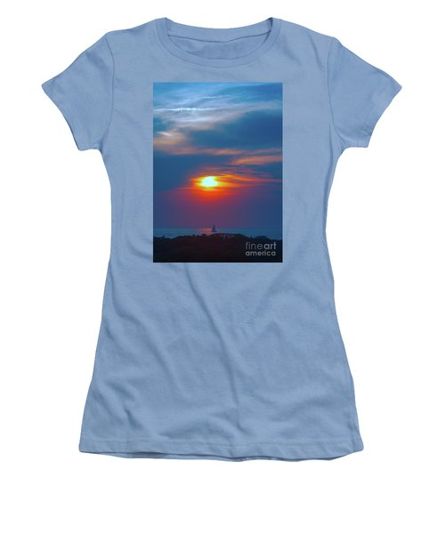 Sailboat Sunset Women's T-Shirt (Athletic Fit)