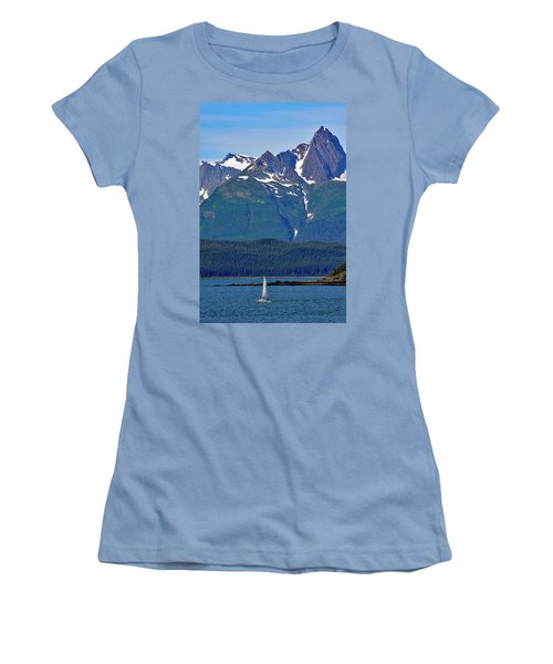 Sailing Lynn Canal Women's T-Shirt (Junior Cut) by Cathy Mahnke