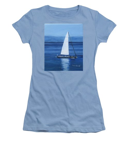 Sailing The Blues Women's T-Shirt (Athletic Fit)